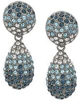Nina Medium Teardrop Pave Swarovski Stones Earrings (Rhodium/White) Earring