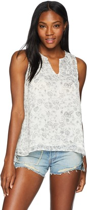 Lucky Brand Women's Floral Printed Tank TOP