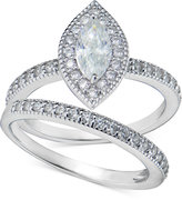 Giani Bernini Cubic Zirconia Marquise and Pavé Ring Set in Sterling Silver, Only at Macy's
