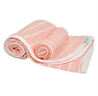House Of Jude Hooded Turkish Towel and Wash Cloth Bundle - Blush