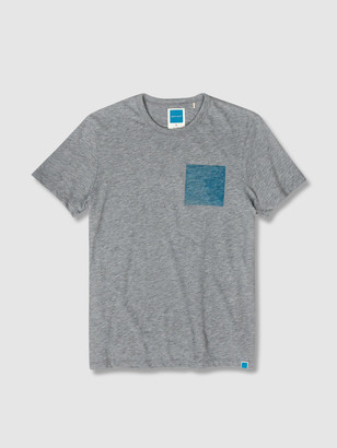 Jason Scott Blue Square Tee - Heather Grey