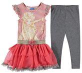 Disney Kids Frill Set Infant Girls Pleated Dress Leggings Trousers Pants Bottoms