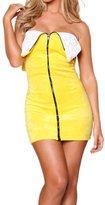 Prettycostume Women Sexy Banana Lingerie Halloween Cosplay Costume Clubwear Dress