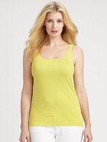 Eileen Fisher Eileen Fisher, Sizes 14-24 Organic Cotton Slim Tank Top