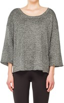 Max Studio Metallic Knitted Pullover