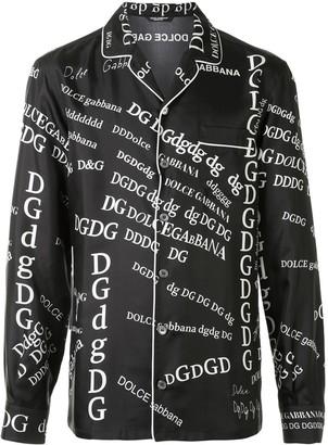 Dolce & Gabbana Dadaist logo pyjama shirt