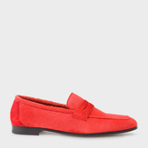 Paul Smith Women's Red Calf Hair 'Glynn' Penny Loafers