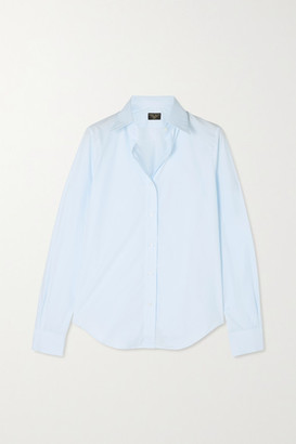 Emma Willis Cotton-poplin Shirt - Blue