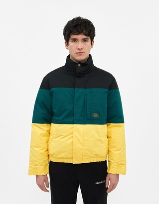 Woolrich Aime Leon Dore Men's Colorblock Down Jacket in Black Combo, Size Small   100% Cotton