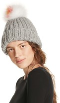 Eugenia Kim Rain Beanie with Arctic Fox Fur Pom-Pom