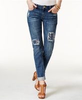 MICHAEL Michael Kors Dylan Cotton Sequin-Patched Skinny Jeans