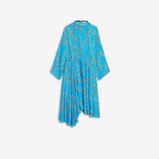 Balenciaga Chains Typo Choker Dress