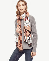Ann Taylor Abstract Floral Scarf