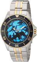 EWatchFactory Men's 'Shark Week' Quartz Stainless Steel Sport Watch, Color:Two Tone (Model: WDC000096)
