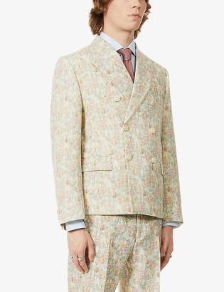 Gucci x Liberty Derry floral-print wool and mohair-blend blazer