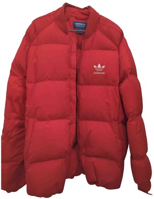 adidas Red Cotton Jacket for Women