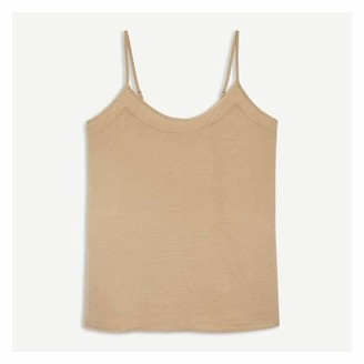 Joe Fresh Women's Satin Cami, Khaki Brown (Size XS)