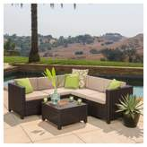 Christopher Knight Home Puerta All-Weather Wicker Patio V Shaped Chat Set