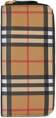 Burberry Vintage Check and Leather Ziparound Wallet