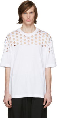 Maison Margiela White Oversized Cut-Out T-Shirt