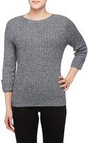 Allison Daley Petites Wide Crew Neck 3/4 Sleeve Sweater