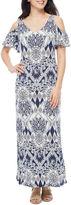 MSK Short Sleeve Cold Shoulder Maxi Dress