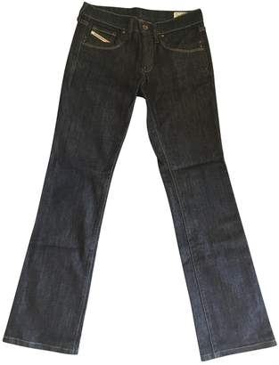 Diesel Navy Cotton Jeans for Women