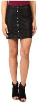 Free People Oh Snap Mini Vegan Leather Skirt