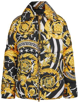 Versace Baroque-print Quilted Shell Jacket