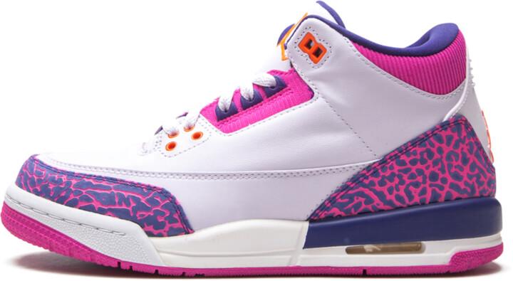 Air 3 Retro GS 'Barely Grape' Shoes - Size 5.5Y