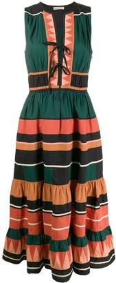Ulla Johnson Kaiya striped mid-length dress