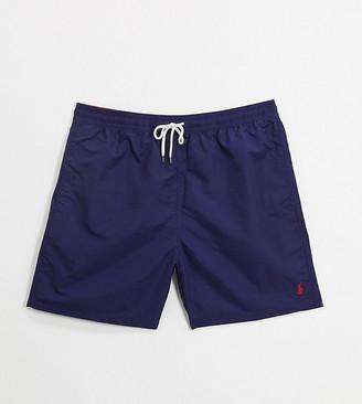 Polo Ralph Lauren Big & Tall Traveler player logo swim shorts in navy