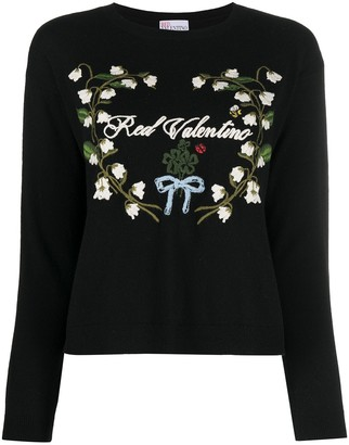 RED Valentino Logo-Embroidered Jumper