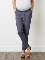 """Maternity Loose fit Trousers - Inside Leg 28"""" - printed ink blue, Maternity 