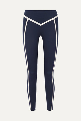 Ernest Leoty Corset Paneled Stretch Leggings - Navy