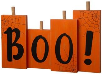 Glitzhome Halloween Wooden Boo Standing Decor