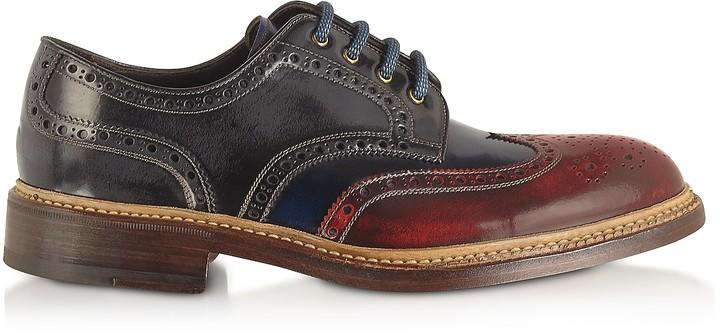 Forzieri Multicolor Wingtip Derby Shoes