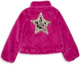 Imoga Little Girl's & Girl's Greta Sequin-Accent Faux Fur Coat