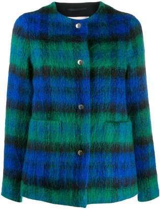 MACKINTOSH BETTYHILL Black Watch Wool & Mohair Collarless Jacket | LM-1002F
