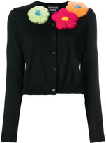 Moschino flower applique cardigan