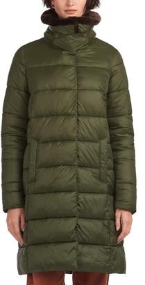 Barbour Teasel Faux Fur Trim Puffer Jacket