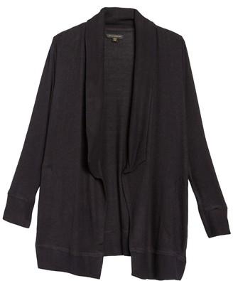 Donna Karan Shawl Collar Bedtime Cardigan