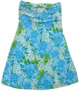 Lilly Pulitzer Blue & Green Patterned Strapless Dress