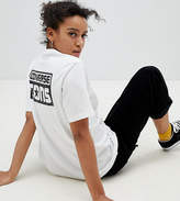 Converse Cons Skate Back Print Logo T Shirt In White