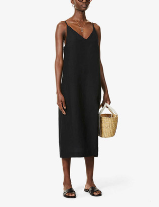 Seafolly Linen-blend slip dress