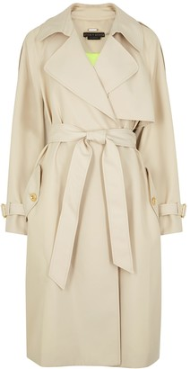Alice + Olivia Adrien taupe twill trench coat