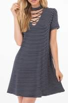 Others Follow Striped Choker Dress