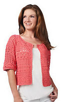 Attitudes by Renee Hand Crochet Elbow Sleeve Shrug
