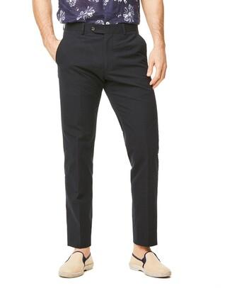 Todd Snyder Black Label Seersucker Sutton Suit Trouser in Navy