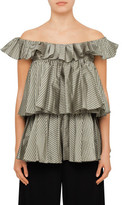 Tome Sleeveless Ruffle Blouse